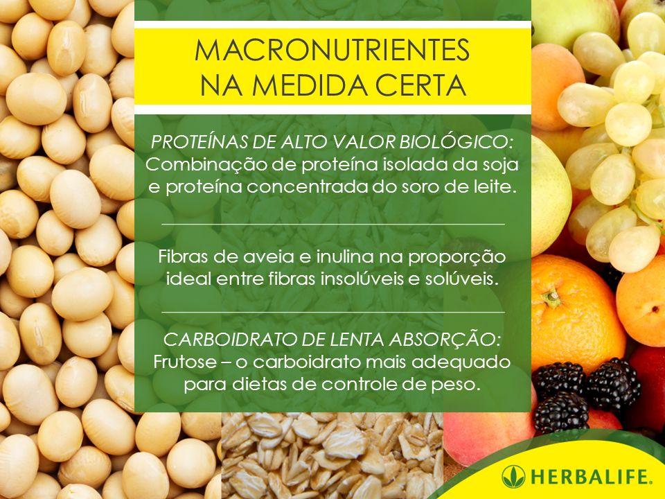 MACRONUTRIENTES NA MEDIDA CERTA