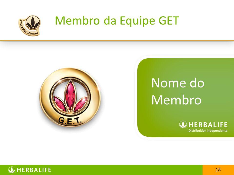 25/03/2017 Membro da Equipe GET Nome do Membro 18 18