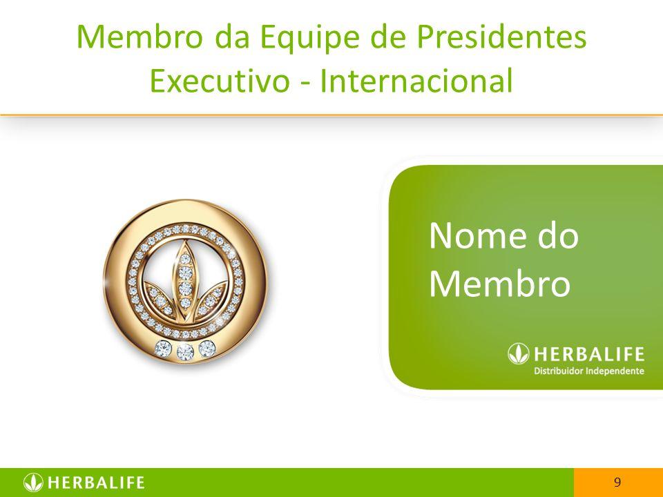 Nome do Membro Membro da Equipe de Presidentes