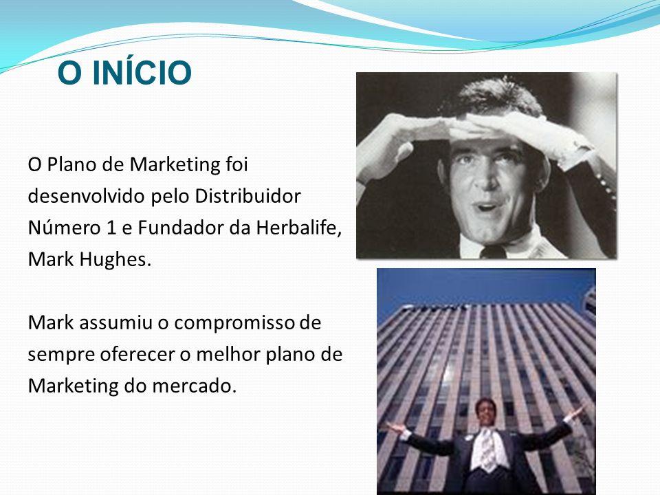 O INÍCIOO Plano de Marketing foi desenvolvido pelo Distribuidor Número 1 e Fundador da Herbalife, Mark Hughes.