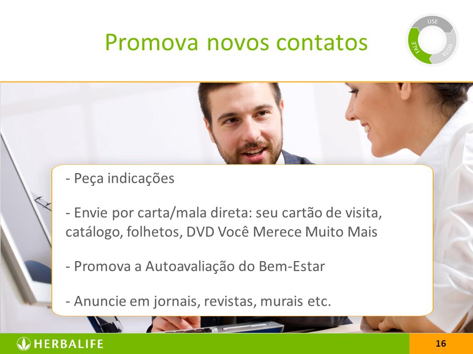 Promova novos contatos