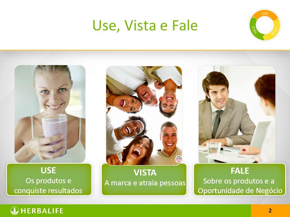Use, Vista e Fale USE VISTA FALE Os produtos e conquiste resultados