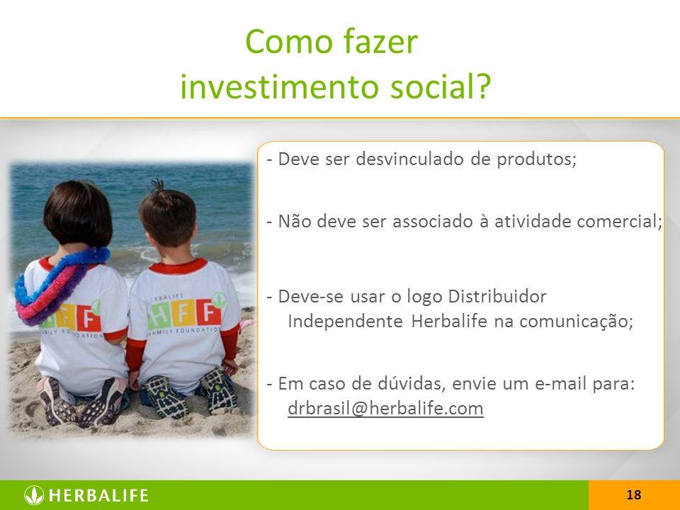 Como fazer investimento social