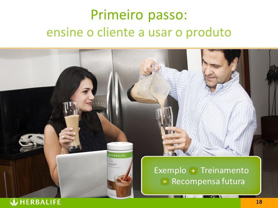 Primeiro passo: ensine o cliente a usar o produto