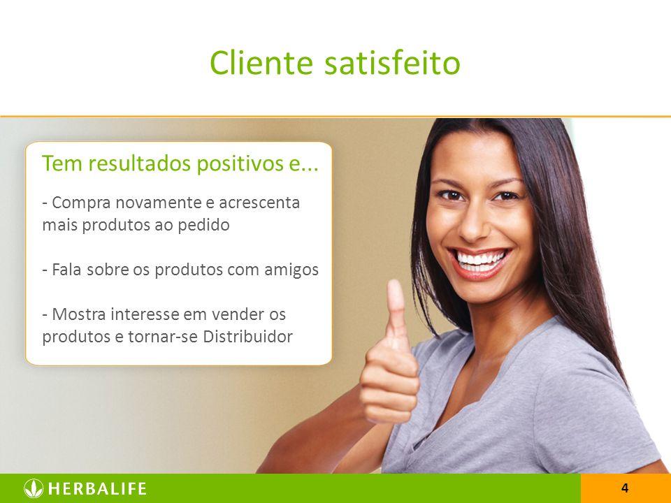 Cliente satisfeito Tem resultados positivos e...