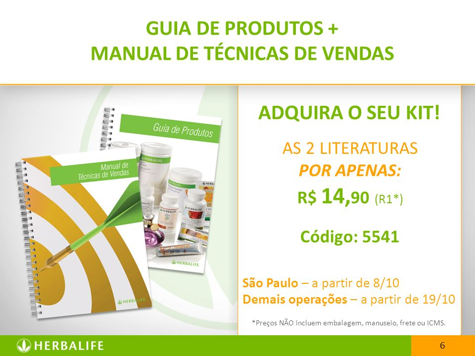 GUIA DE PRODUTOS + MANUAL DE TÉCNICAS DE VENDAS