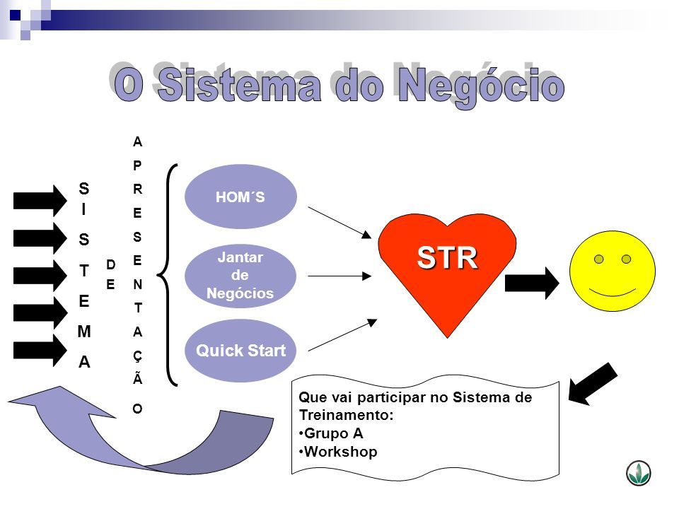 O Sistema do Negócio STR S I S T E M A Quick Start HOM´S