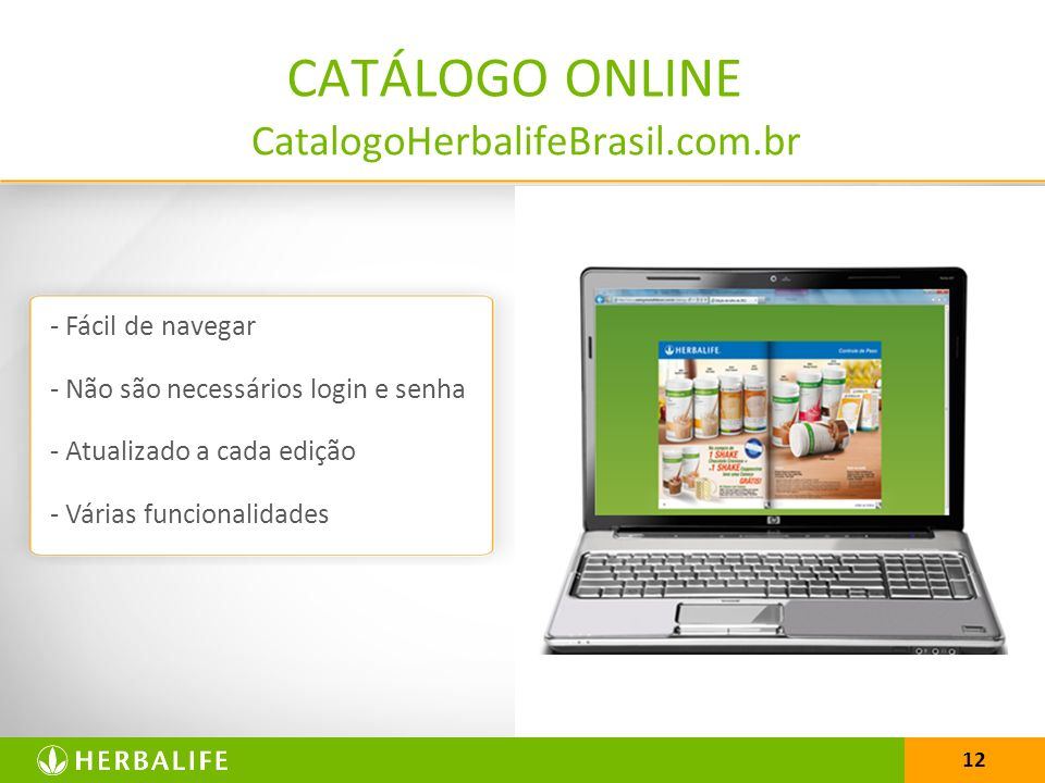 CATÁLOGO ONLINE CatalogoHerbalifeBrasil.com.br - Fácil de navegar
