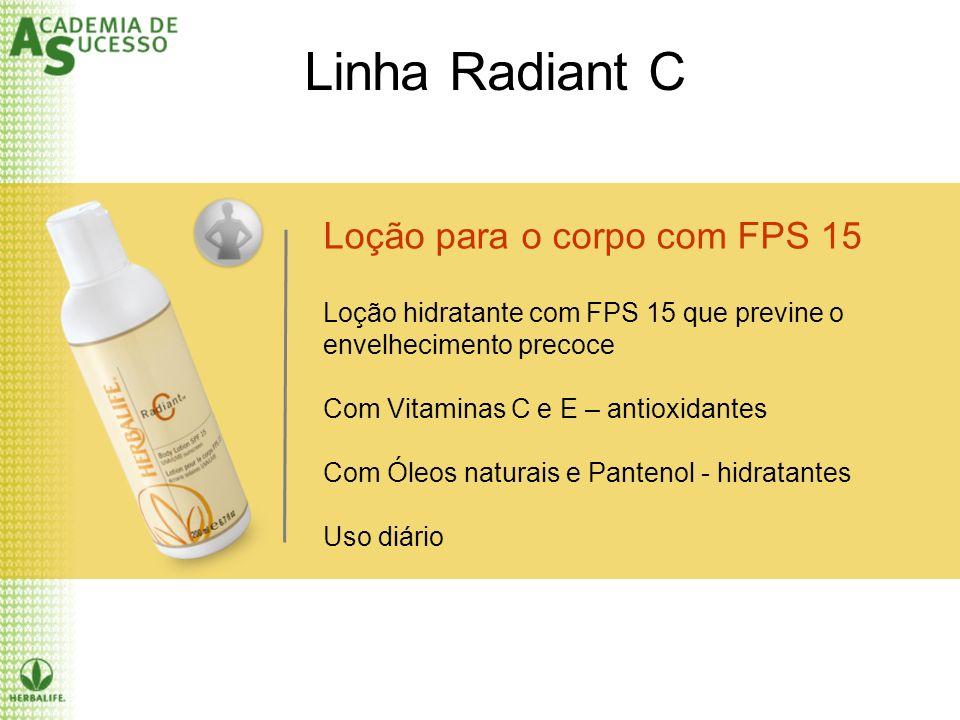 Linha Radiant C Loção para o corpo com FPS 15