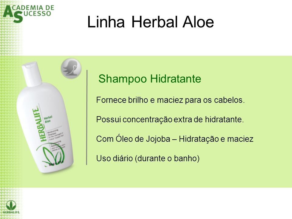 Linha Herbal Aloe Shampoo Hidratante