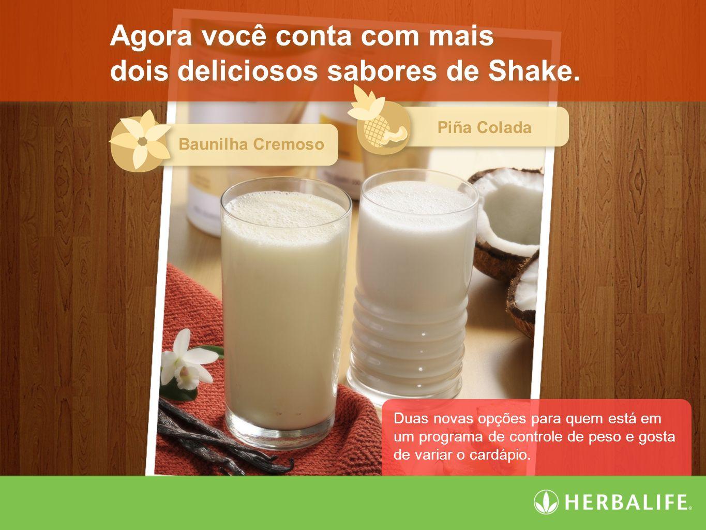Agora você conta com mais dois deliciosos sabores de Shake.