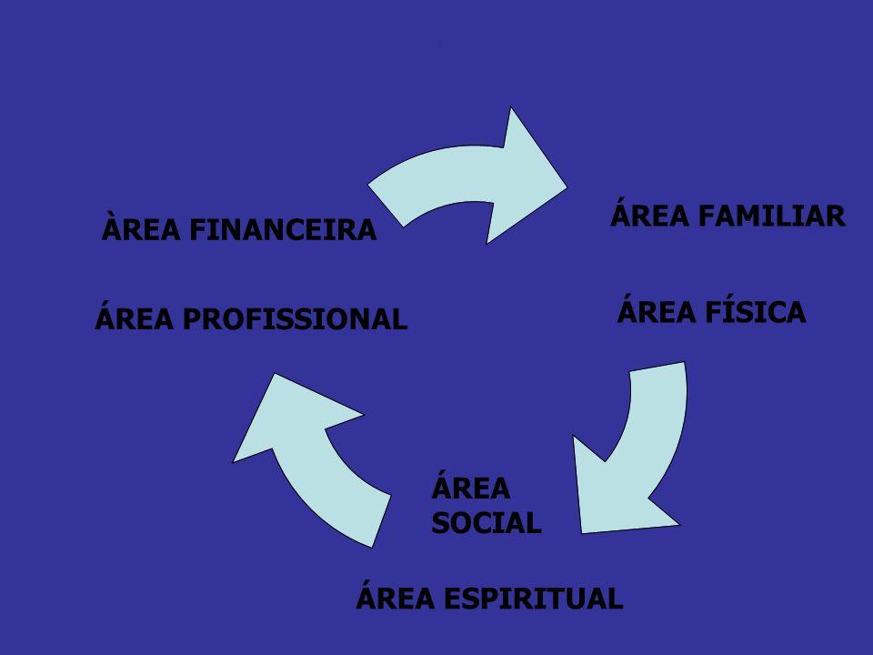ÁREA FAMILIAR ÀREA FINANCEIRA ÁREA FÍSICA ÁREA PROFISSIONAL
