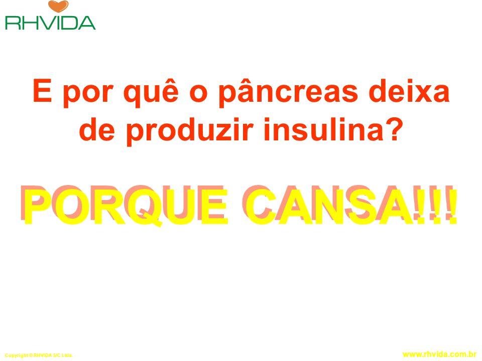E por quê o pâncreas deixa