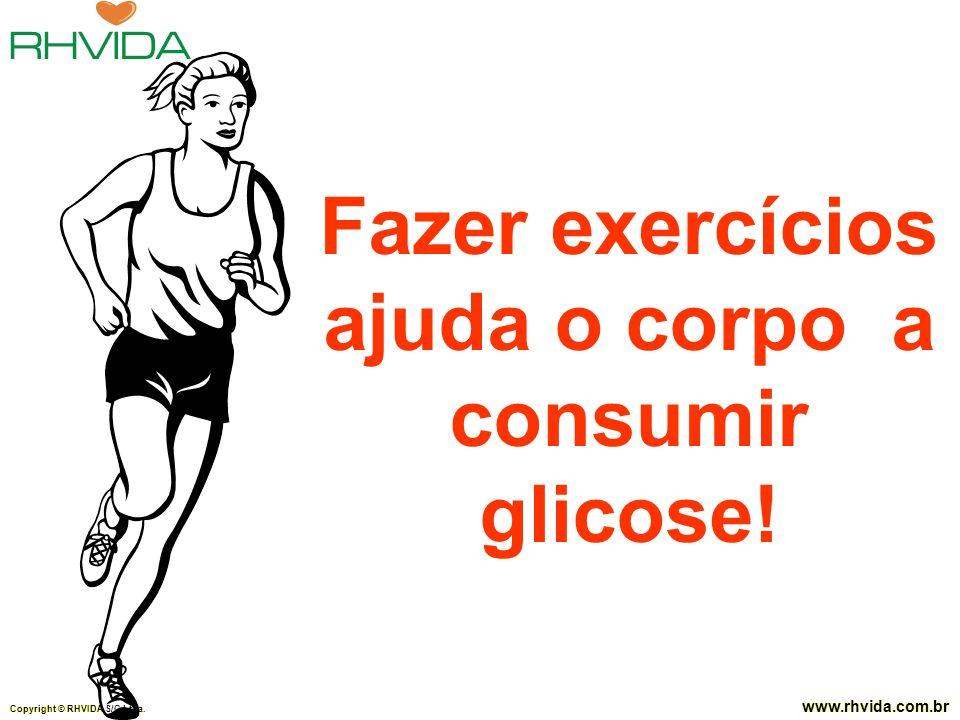 Fazer exercícios ajuda o corpo a consumir glicose!