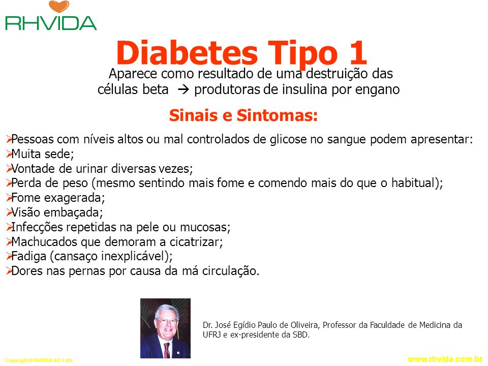 Diabetes Tipo 1 Sinais e Sintomas: