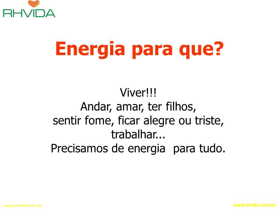 Energia para que Viver!!! Andar, amar, ter filhos,