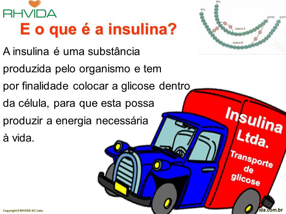 E o que é a insulina Insulina Ltda. A insulina é uma substância