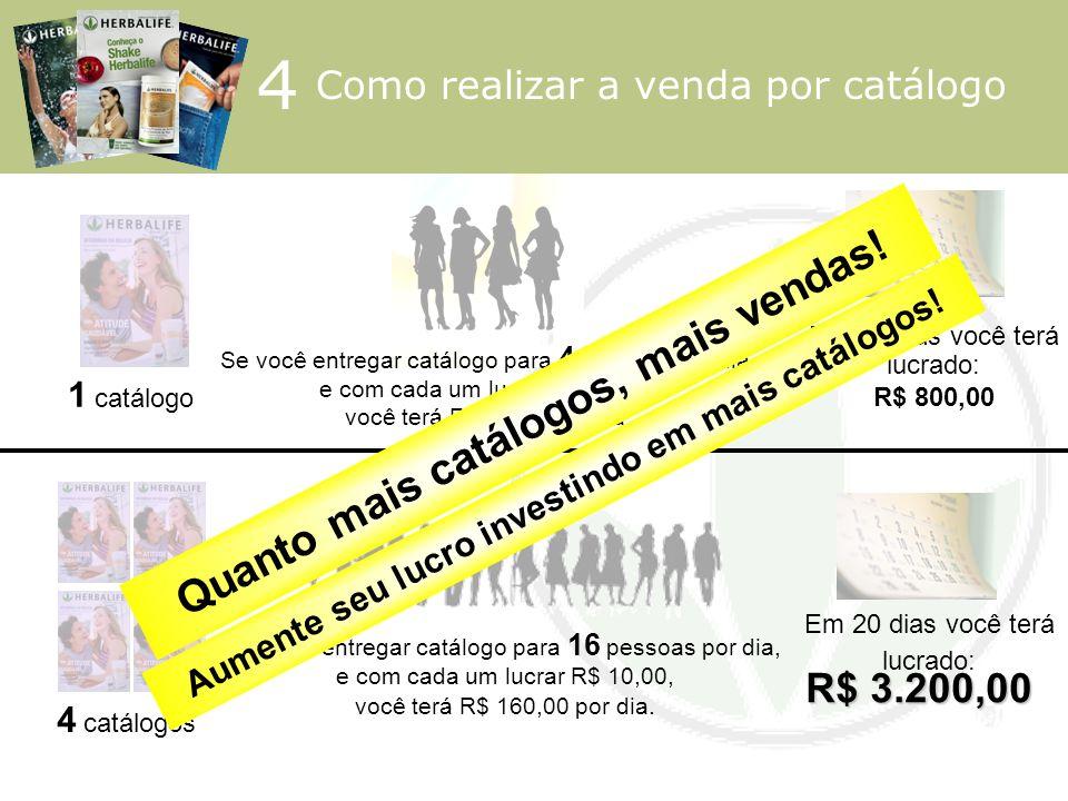 4 Quanto mais catálogos, mais vendas! R$ 3.200,00