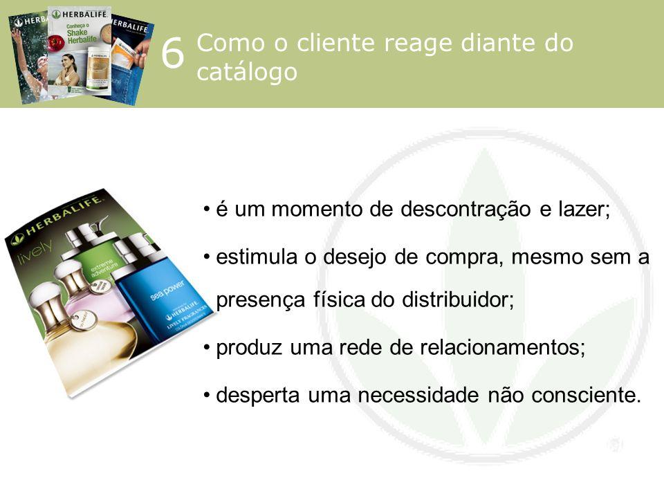 6 Como o cliente reage diante do catálogo