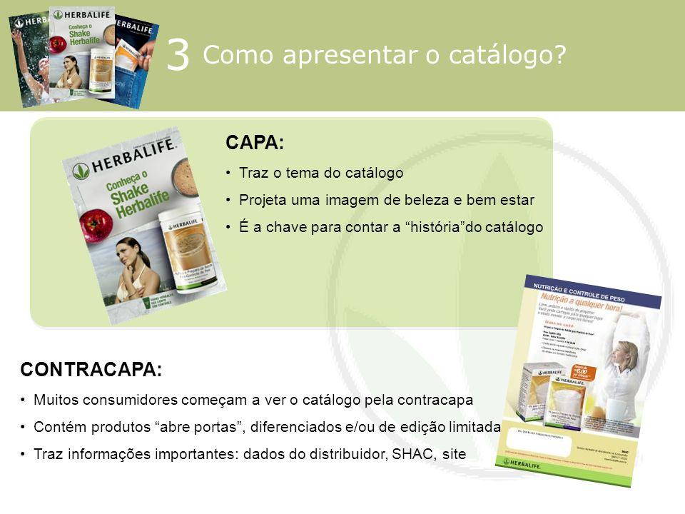 3 Como apresentar o catálogo CAPA: CONTRACAPA: