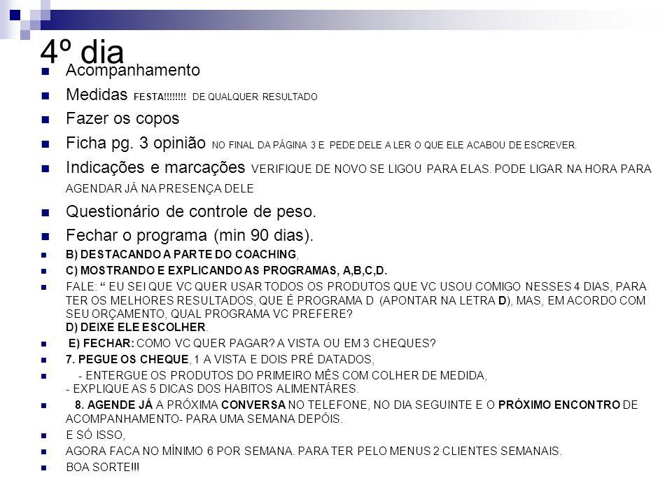4º dia Acompanhamento Medidas FESTA!!!!!!!! DE QUALQUER RESULTADO