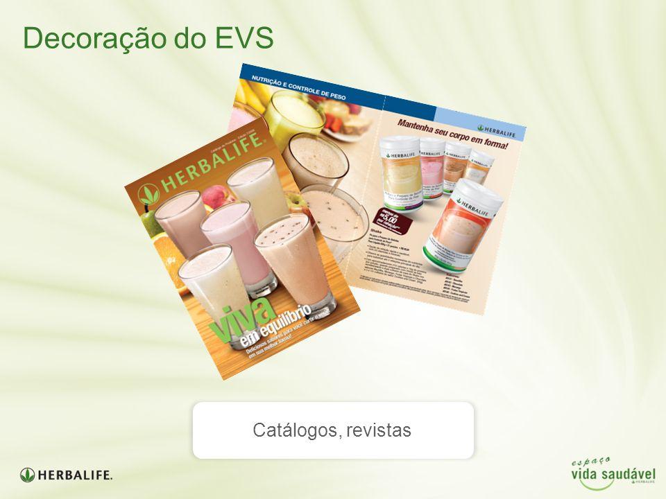 Decoração do EVS Catálogos, revistas