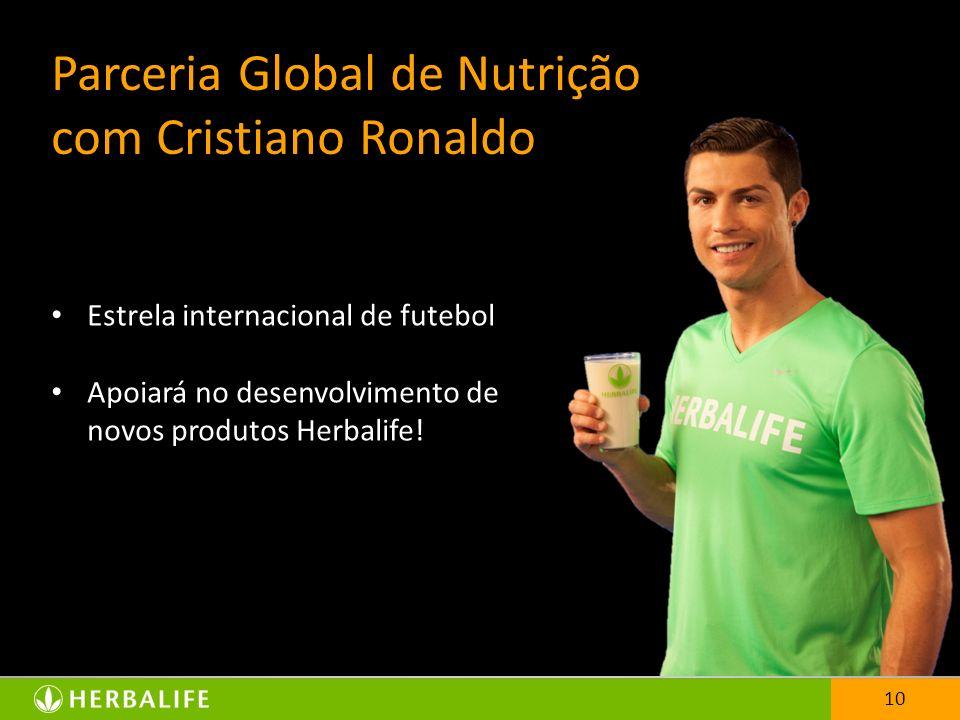 Parceria Global de Nutrição com Cristiano Ronaldo