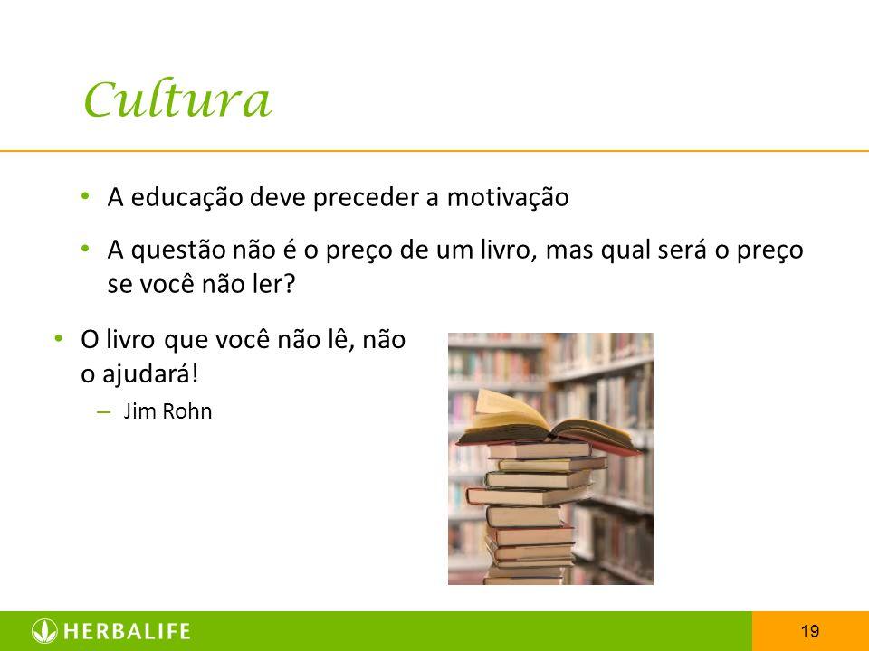 Cultura A educação deve preceder a motivação