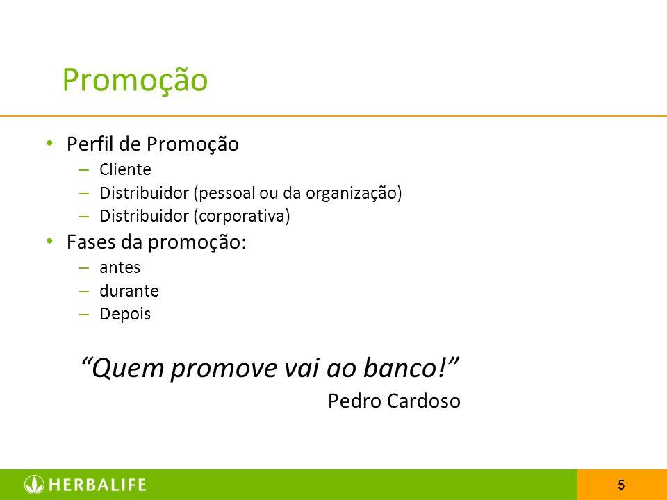 Promoção Quem promove vai ao banco! Perfil de Promoção