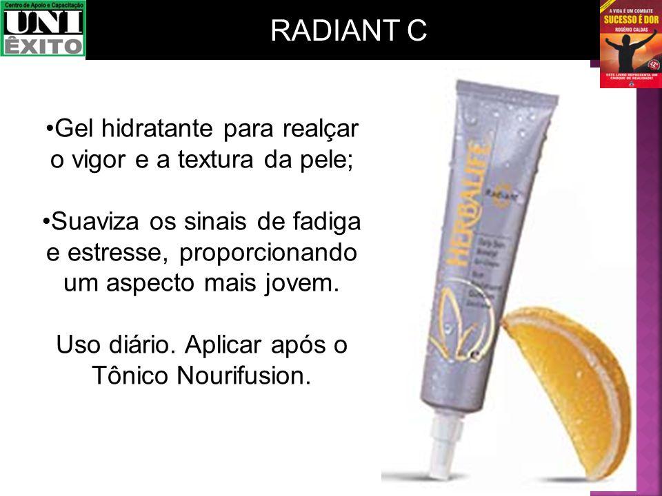 RADIANT C Gel hidratante para realçar o vigor e a textura da pele;