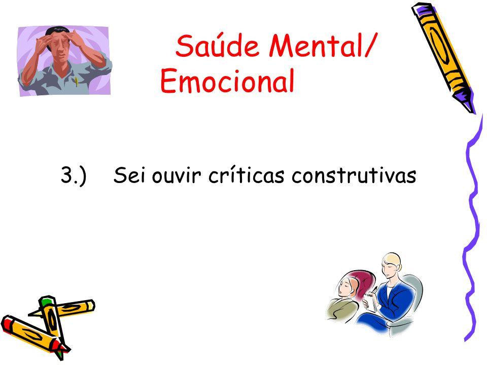 Saúde Mental/ Emocional