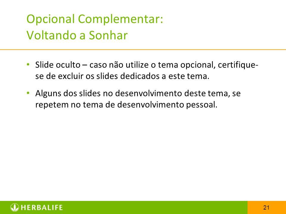 Opcional Complementar: Voltando a Sonhar