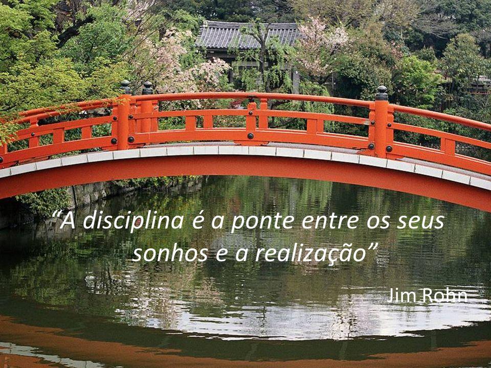 A disciplina é a ponte entre os seus sonhos e a realização