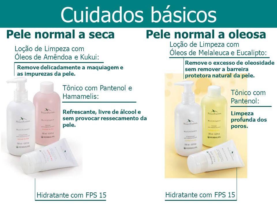 Cuidados básicos Pele normal a seca Pele normal a oleosa