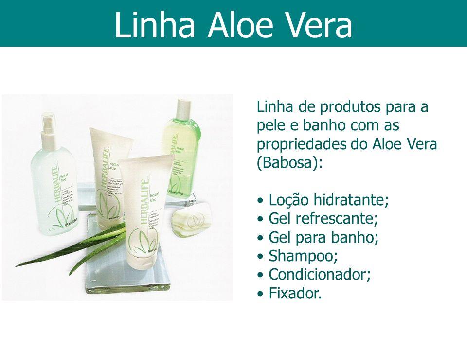 Linha Aloe Vera Linha de produtos para a pele e banho com as propriedades do Aloe Vera (Babosa): Loção hidratante;