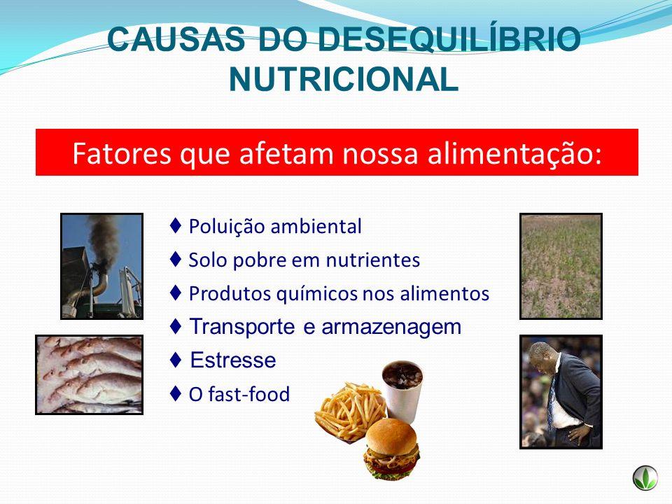 CAUSAS DO DESEQUILÍBRIO NUTRICIONAL