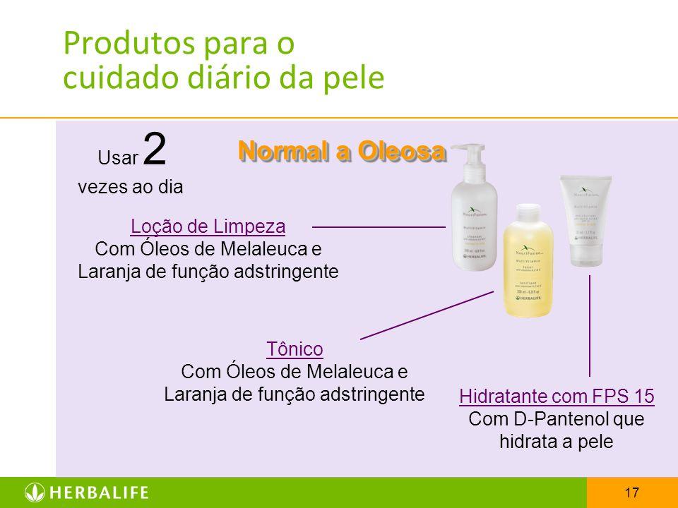 Produtos para o cuidado diário da pele