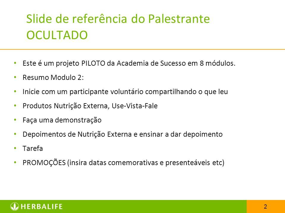 Slide de referência do Palestrante OCULTADO