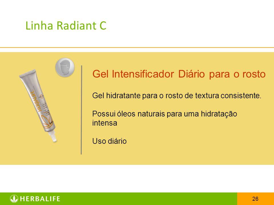 Linha Radiant C Gel Intensificador Diário para o rosto