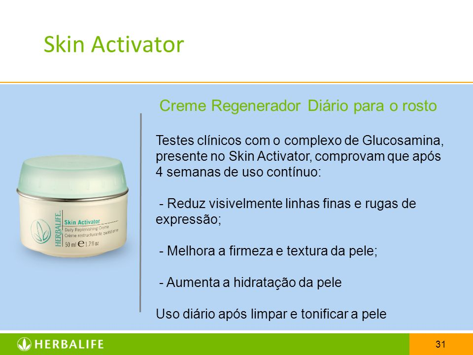 Skin Activator Creme Regenerador Diário para o rosto