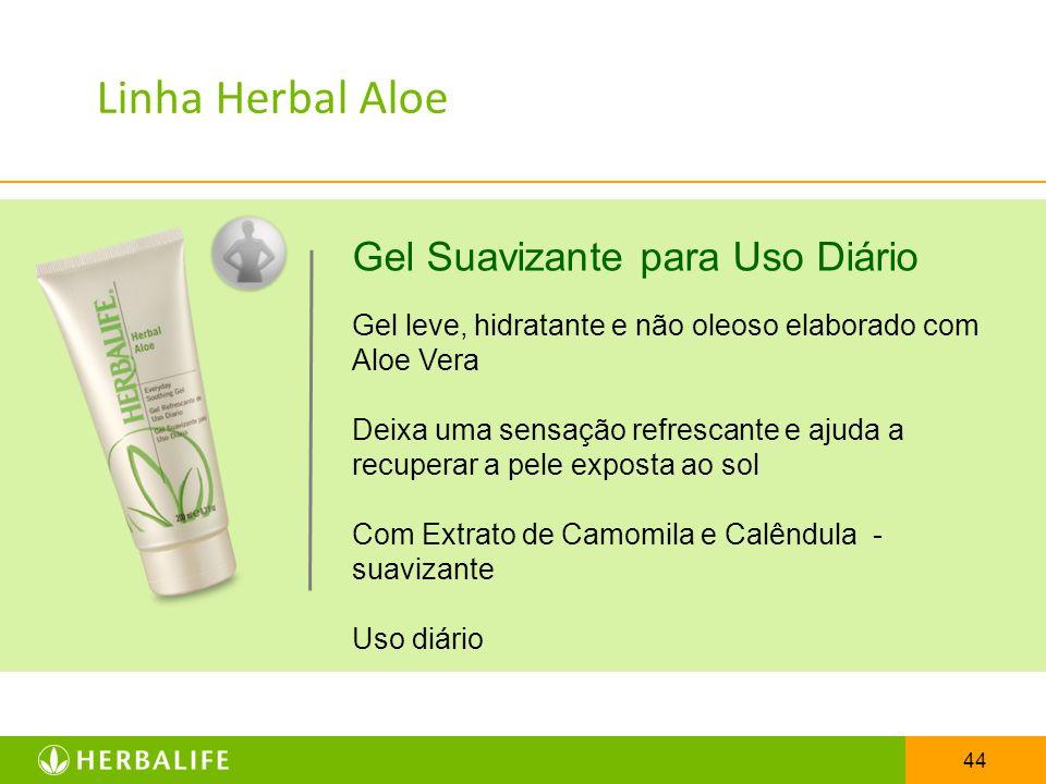 Linha Herbal Aloe Gel Suavizante para Uso Diário