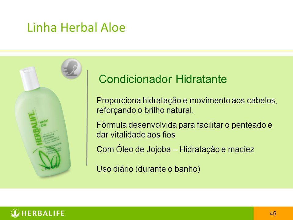 Linha Herbal Aloe Condicionador Hidratante