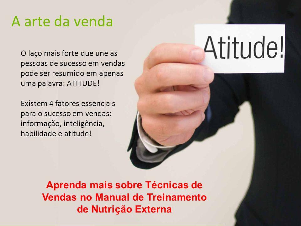 A arte da venda O laço mais forte que une as pessoas de sucesso em vendas pode ser resumido em apenas uma palavra: ATITUDE!