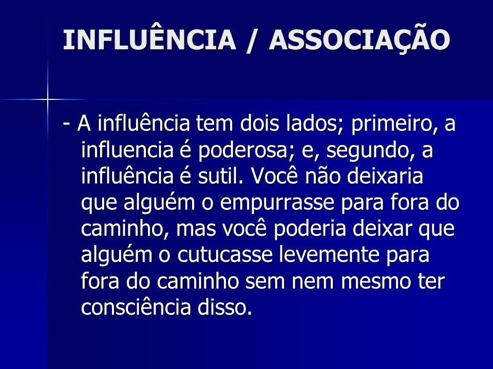 INFLUÊNCIA / ASSOCIAÇÃO