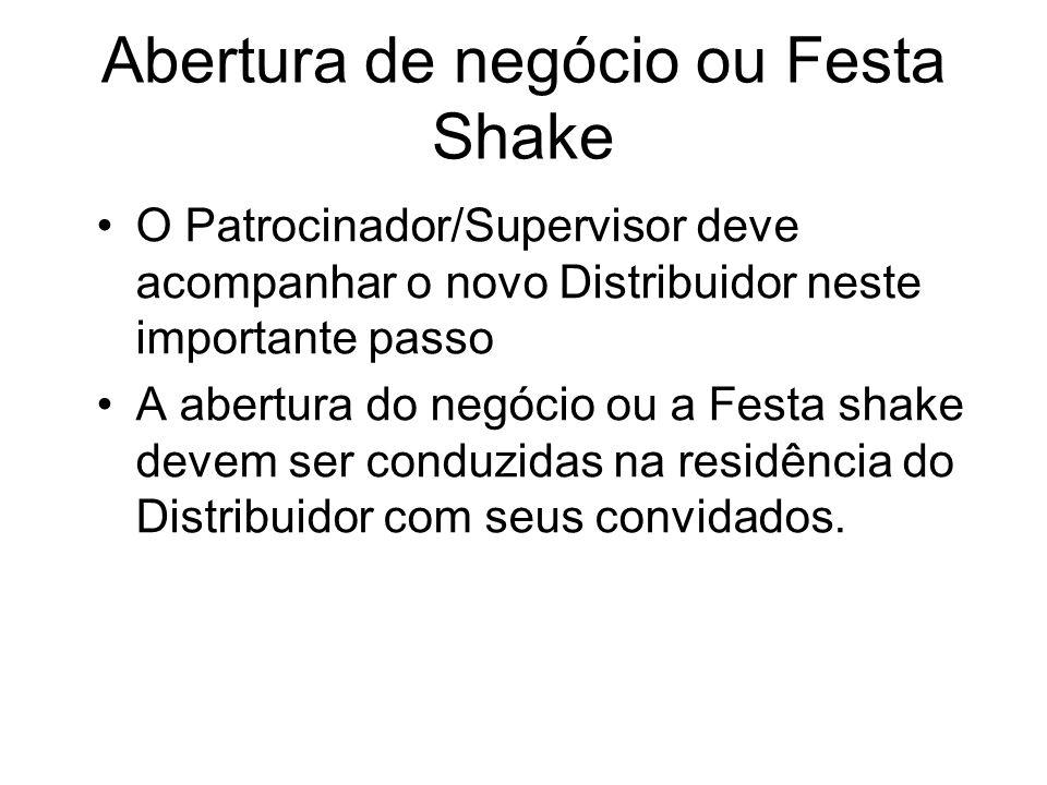 Abertura de negócio ou Festa Shake