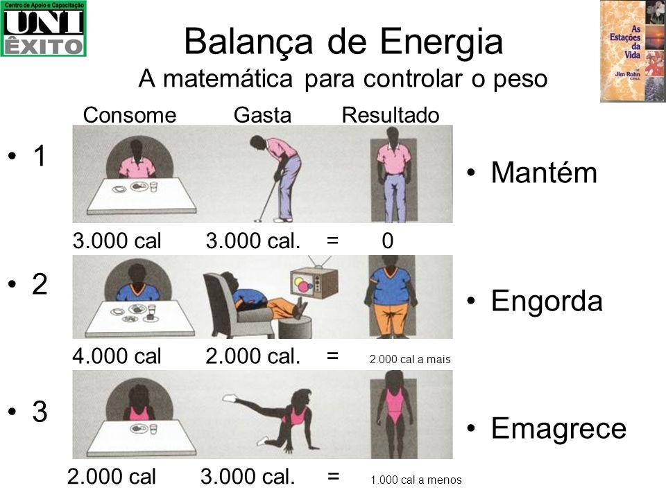 Balança de Energia A matemática para controlar o peso