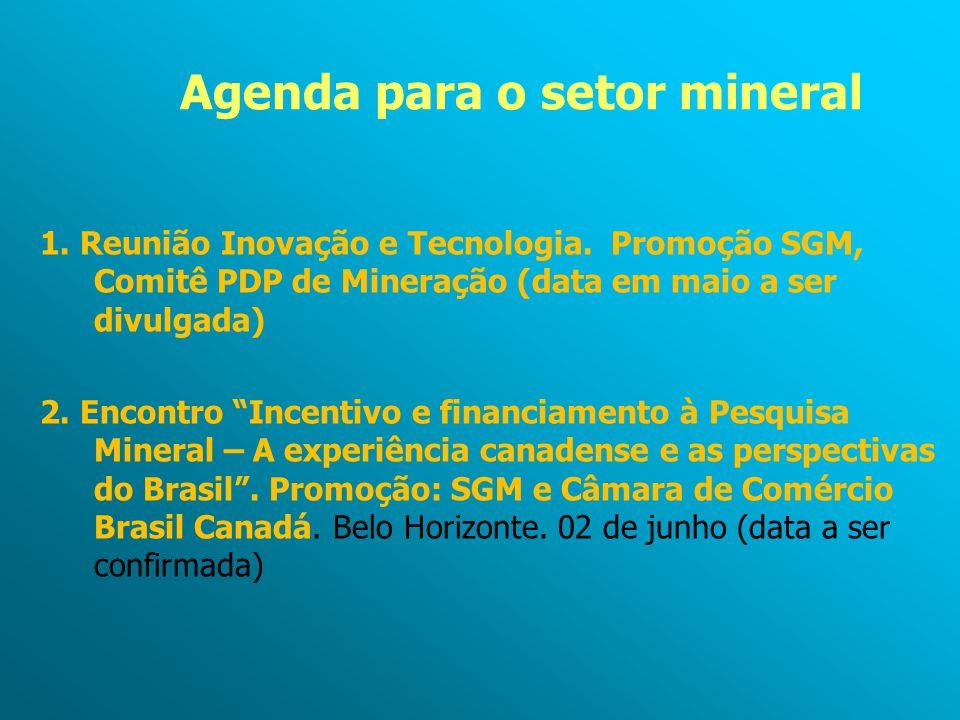 Agenda para o setor mineral