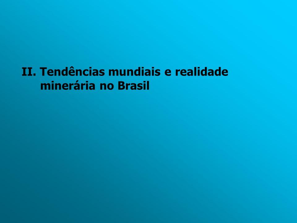II. Tendências mundiais e realidade minerária no Brasil