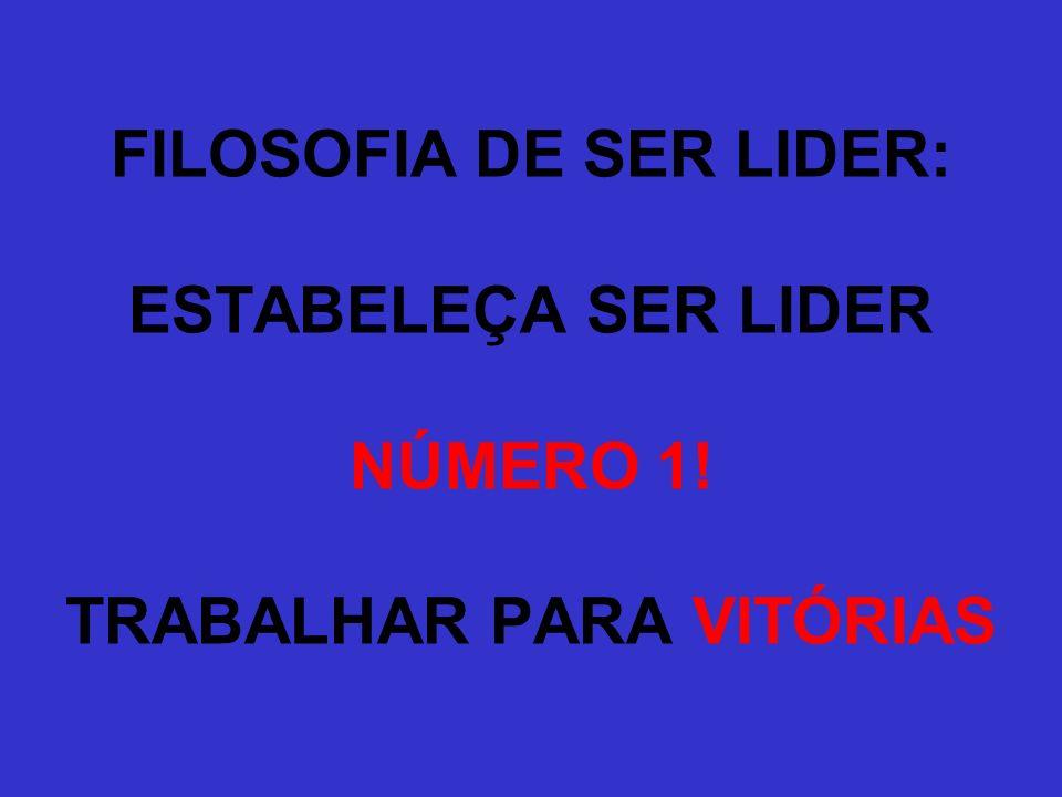 FILOSOFIA DE SER LIDER: ESTABELEÇA SER LIDER NÚMERO 1