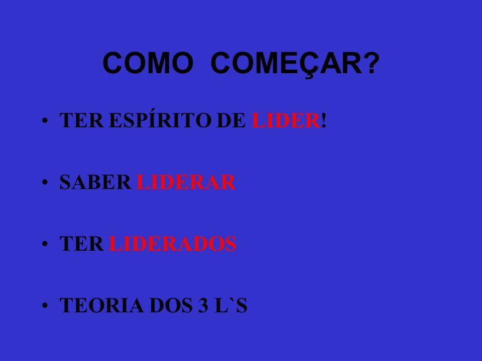 COMO COMEÇAR TER ESPÍRITO DE LIDER! SABER LIDERAR TER LIDERADOS